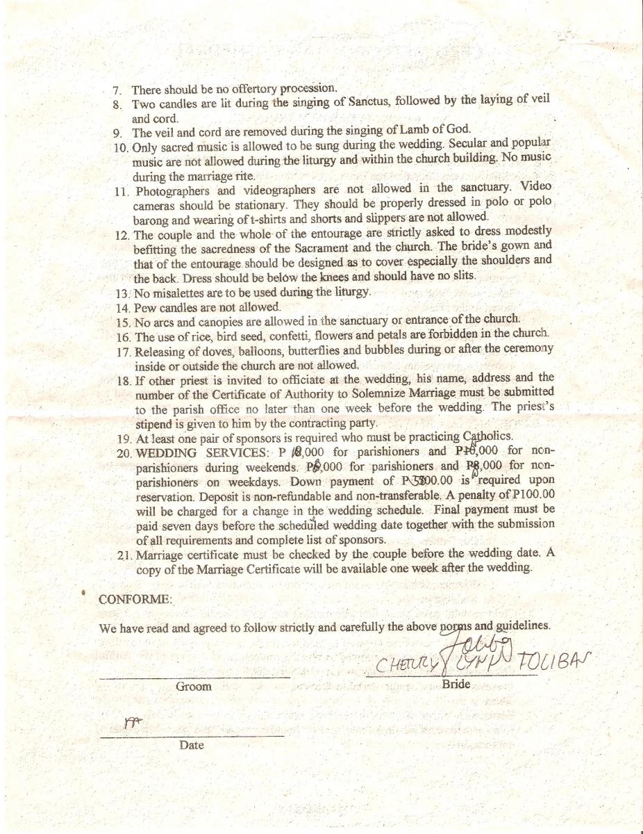 Church Requirements Page 1